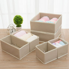 6PCS Underwear Socks Storage Box Fabric Table Bra Drawer Type Finishing 40