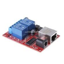 Servidor da web do módulo do controlador do interruptor tcp/udp do atraso da placa do relé de 2 vias do lan ethernet