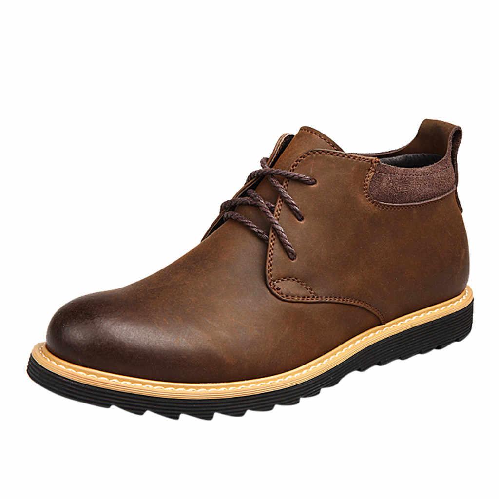 SAGACE Mode Männer der Runde Kopf Britischen Luftkanal Spitze Casual Stiefel Werkzeug Stiefel Casual Casual Stiefel Schuhe Heißer