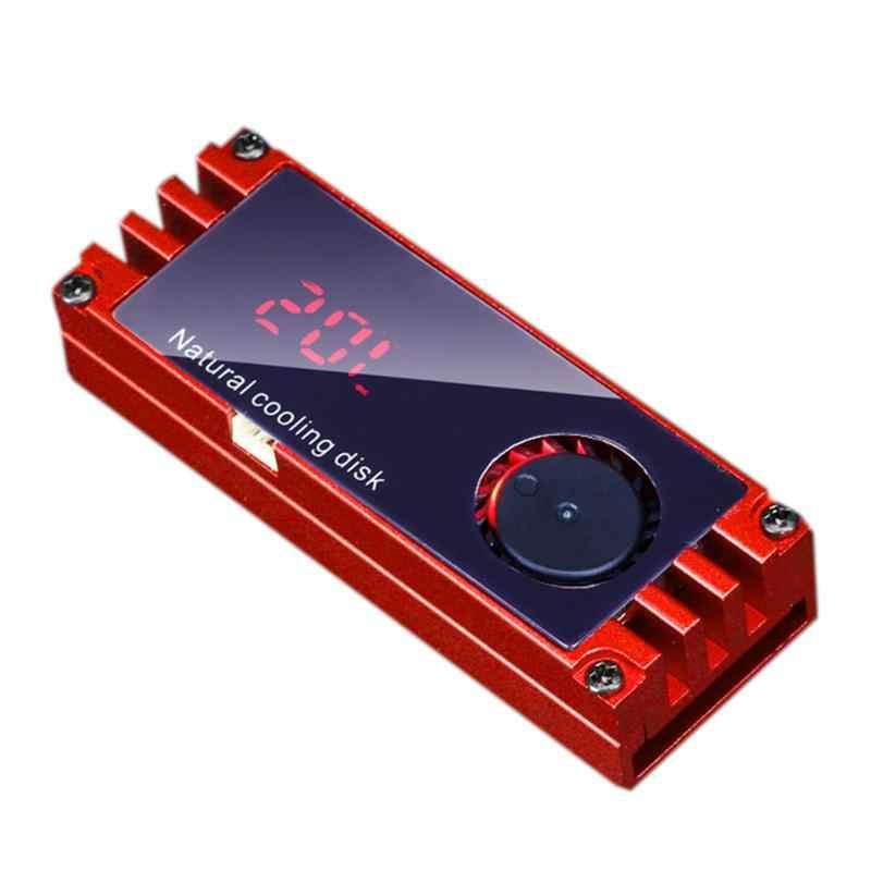 تبريد حربية مروحة درجة حرارة OLED شاشة ديجيتال M.2 2280 وسيط تخزين ذو حالة ثابتة/ القرص الصلب القرص لوحة حرارية تبريد رقاقة مروحة التبريد المبرد