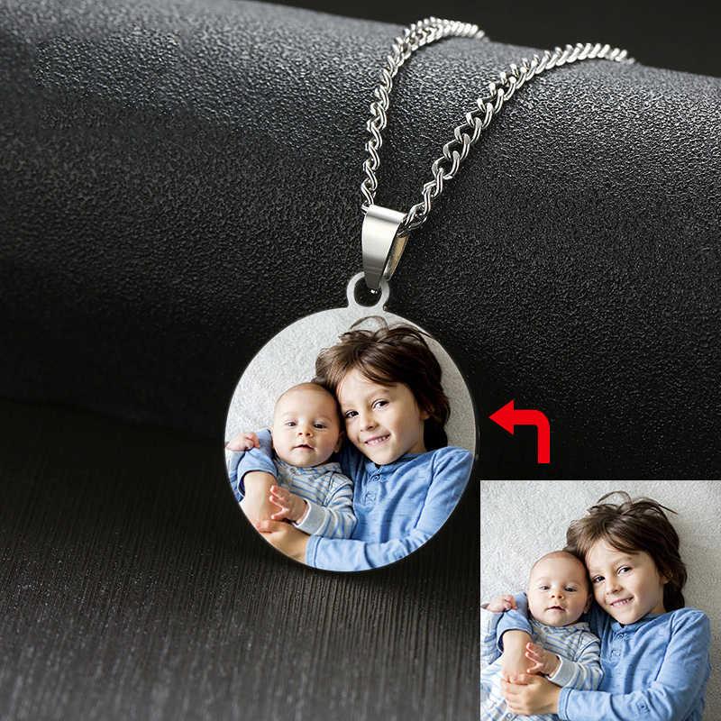 Custom Multi Warna Foto Anjing Stainless Steel: Kalung untuk Wanita Pria Perhiasan Personalisasi Hadiah Yang Bagus