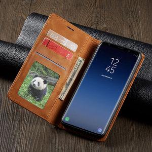 Image 2 - Flip Kapak Cüzdan Lüks Deri Telefon samsung kılıfı Galaxy S9 Artı Kart Standı GalaxyS9 S9Plus SM G960 G965 SM G965F SM G960F