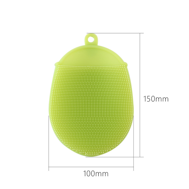 Kitchen Cleaning Tools Bowl Washing Brush Magic Silicone Dish Cleaning Glove Brushes Scouring Pad Pot Antibacterial Wash Brush in Sponges Scouring Pads from Home Garden