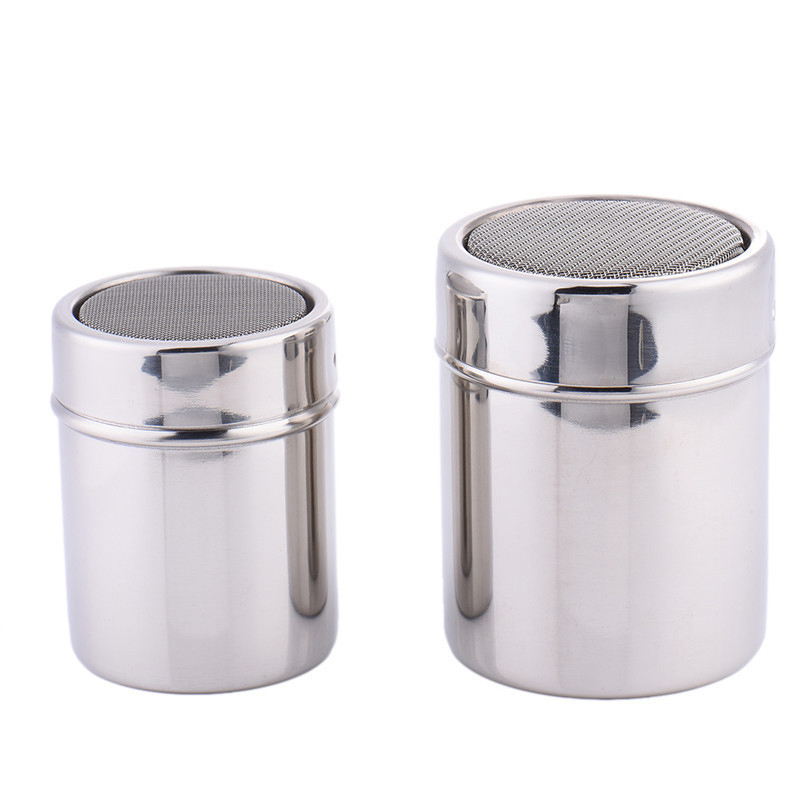 SEAAN Stainless Steel Chocolate Shaker Cocoa Flour Icing Sugar Powder Coffee Sifter With Lid Coffee Filters Coffee Accessories