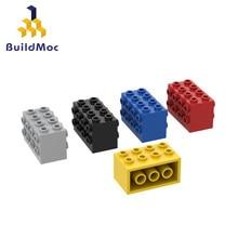 Buildmoc tuğla 2434 2x4x2 özel tuğla yapı taşları parçaları DIY inşaat noel hediyesi oyuncaklar