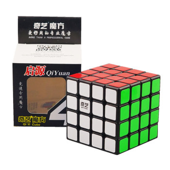 QIYI 4x4x4 Cube 4x4 62mm Cube Puzzle Black White Professional Speed Cube Magico Educational Toy For Children Cube shengshou cube 2 x 2 x 2 mini cube black base fun educational toy