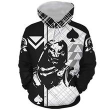 Mężczyźni jesień Caydee bluzy Destinie 3D Print mężczyźni z długim rękawem bluzy z kapturem hiphopowy sweter swetry na co dzień strój na imprezę