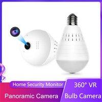 960P Wifi Panorama Kamera Birne 360 Grad Fisheye Wireless Home Sicherheit Video Überwachung Version Zwei Weg Audio Camcorder