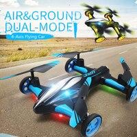 2.4G RC Elicottero Aria-Terra di Macchina Volante H23 Quadcopter Con La Luce di Un Ritorno chiave A Distanza di Controllo Droni giocattoli di modello Per I Bambini