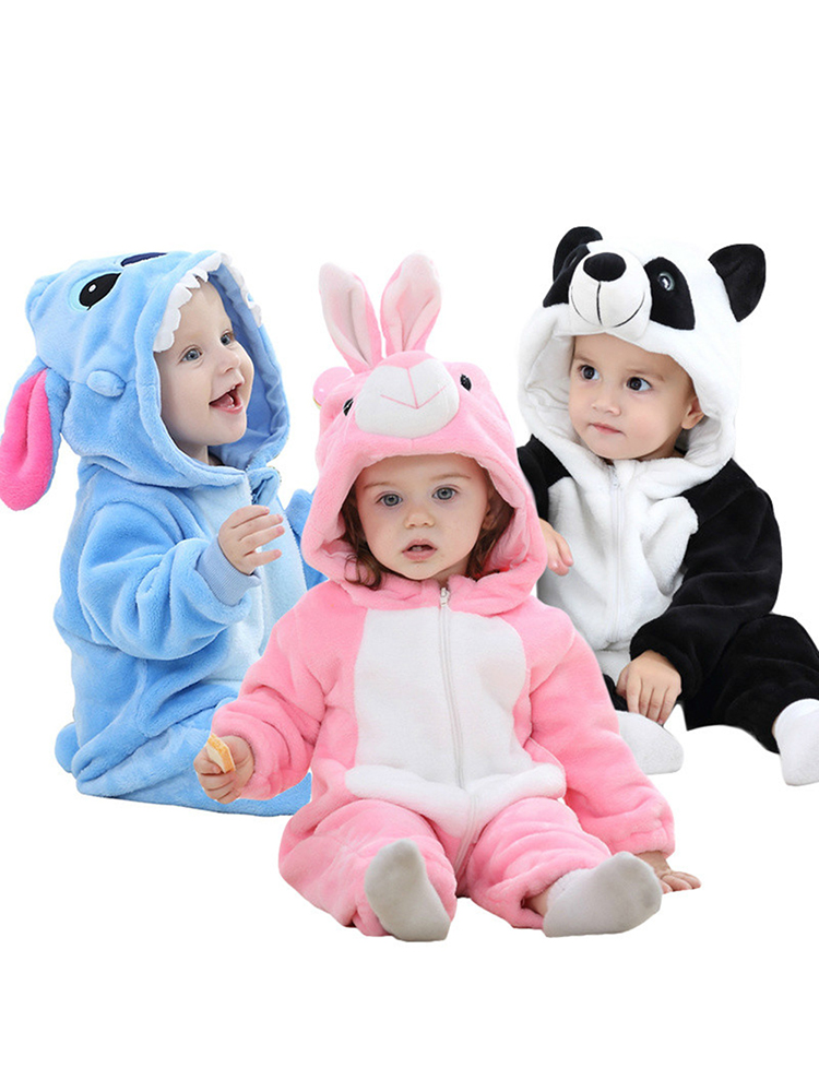 Newborn Jumpsuit Stitch-Pajamas Baby's-Sets Infant Clothing Boys Romper Panda Toddler