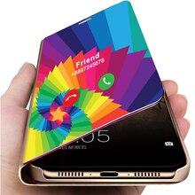 Thông Minh Gương Ốp Lưng Điện Thoại Samsung Galaxy S20 Plus FE S10 S9 S8 S21 Note 20 Ultra 10 9 8 a50 A70 A21S A51 A71 A52 A72 Bao
