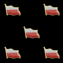 5PCS Souvenir Poalnd Epoxy Multicolor Waving Flag Lapel Pins Fashion Flag Badge Pin Medal Brooches Gifts 5pcs fashion flag badge flag pin france waving flag lapel pins epoxy medal brooches jewelry