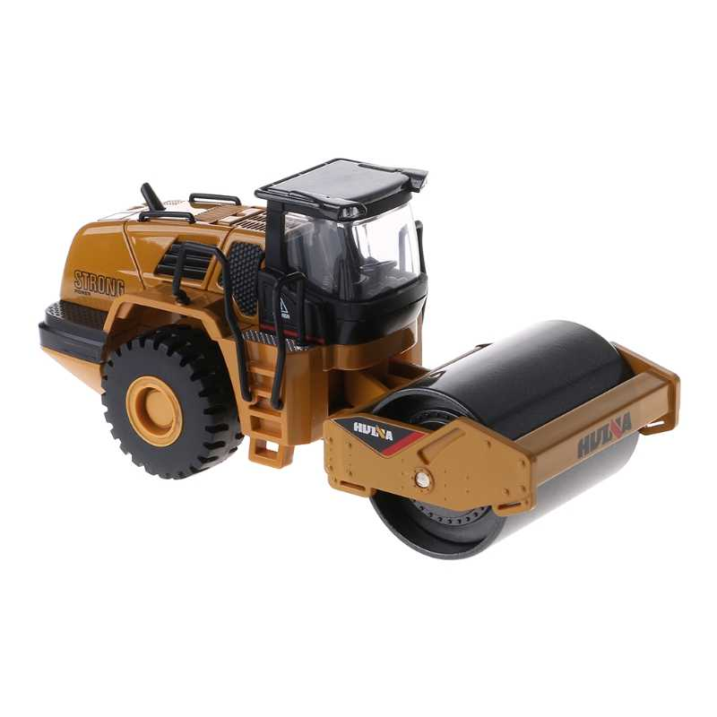 1/50 Scale Diecast Metal Road Roller Truck Construction Toy Vehicle for Kid Gift 95AE