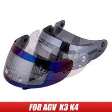 קסדת מגן עבור AGV K3 K4 אופנוע קסדת עדשה עבור AGV K3 K4 מלא פנים moto קסדת מגן שמש (לא עבור AGV K3 SV קסדת)