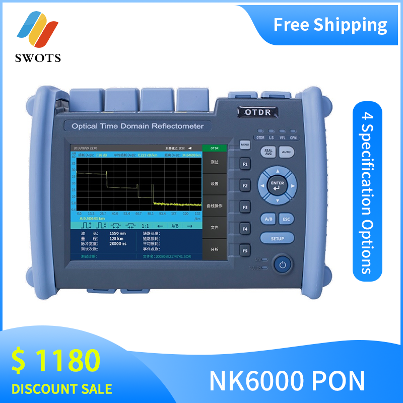 NOVKER NK6000 PON OTDR Multifunction Optic Fiber 1310 1550 1625 1650 PON OTDR Tester With VFL OPM Light Source
