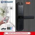 Биометрический замок отпечатков пальцев, интеллектуальный замок безопасности с WiFi приложение Пароль RFID разблокировка, дверной замок элект...