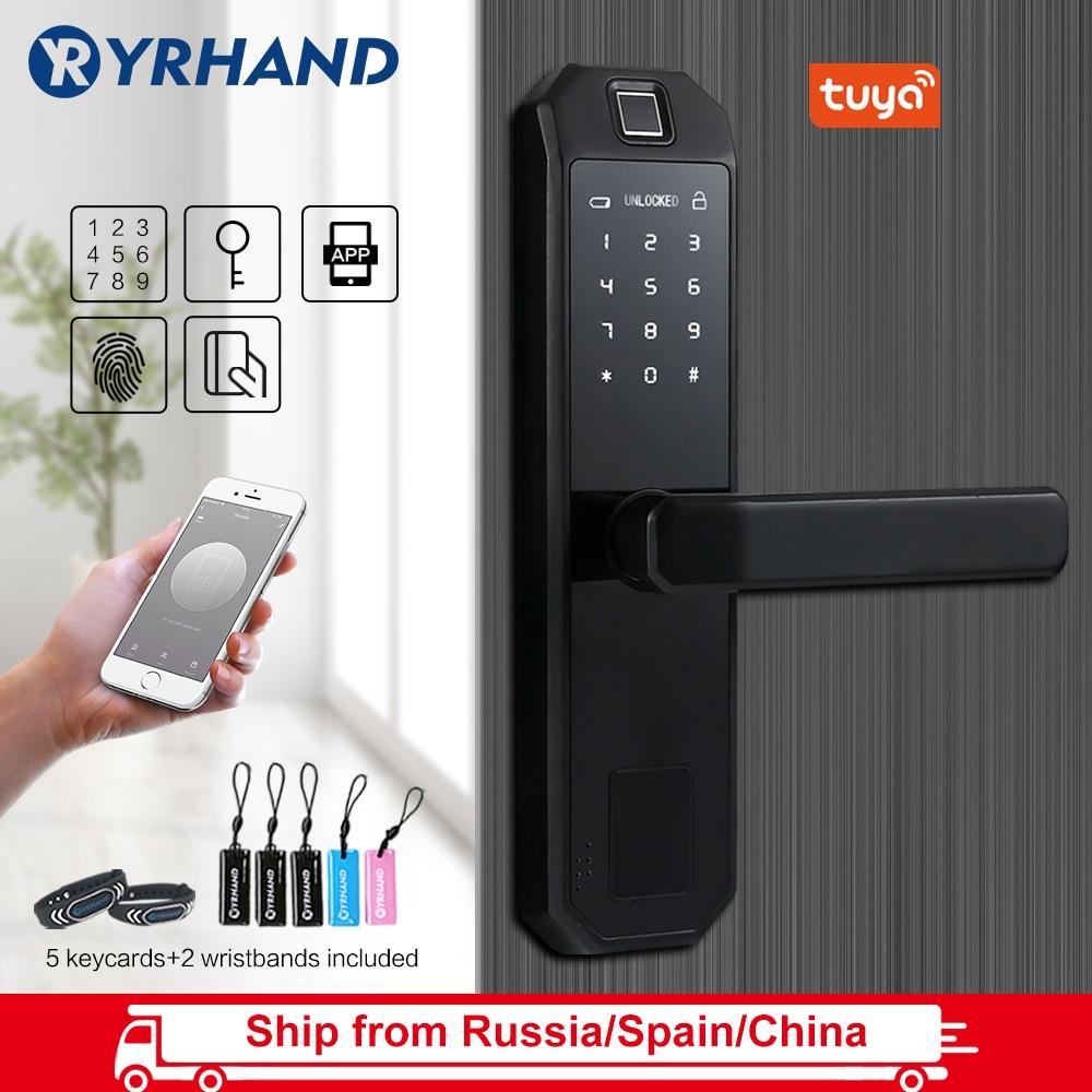 WiFi Intelligent Biometric Fingerprint Lock Intelligent Security Door Lock