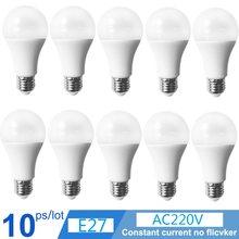 10pcs /lot E27 220V LED Lamp Cool/Warm White SMD2835 Bulbs Living Room Lighting Light 3W/6W/9W/12W/15W/18W/21W led bulb