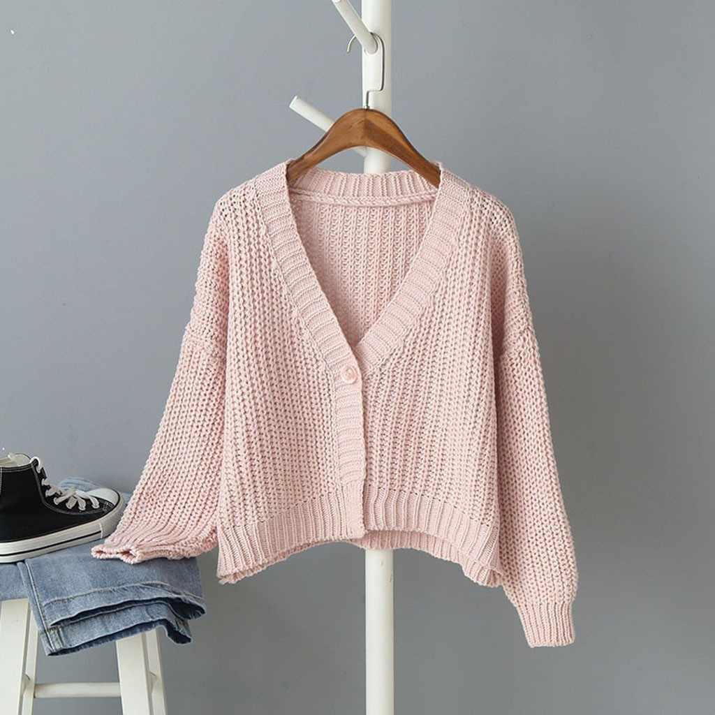 여성 캐주얼 패션 뜨개질 v-넥 탑스 긴 소매 따뜻한 게으른 바람 스웨터 스트 라이프 슬림 스웨터