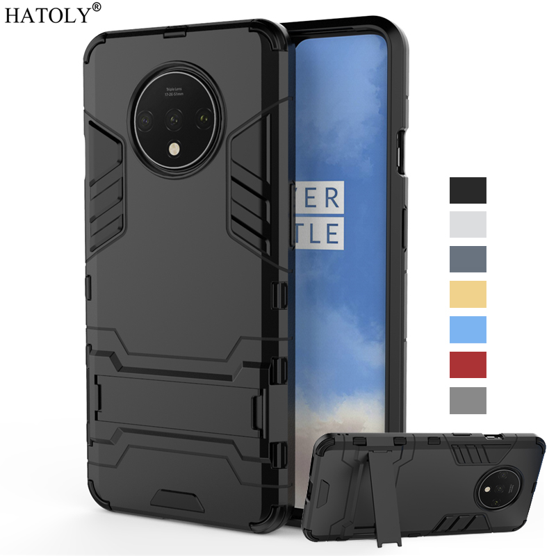 For Oneplus 7T Case Cover 7 T Pro One plus Shockproof Hard PC Armor Holder Stand Case Silicone Phone Bumper Case For Oneplus 7T