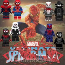 Spiderman Movie Figures Spider-Man Far From Home Deadpool Venom Ior Man Miles Morales Marvel Avengers Building Blocks Toys Gifts(China)