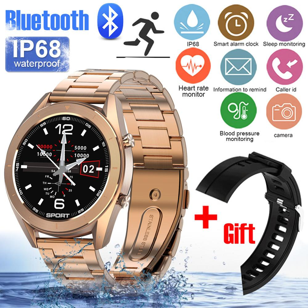 DT99 Smart Watch IP68 Waterproof Round HD Screen ECG Detection Changeable Dials Smartwatch Fitness Tracker Men EarphoneCase Gift