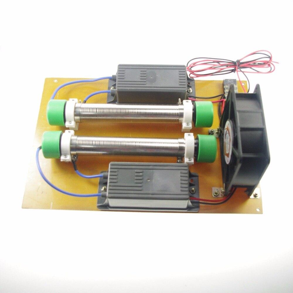 15g/h 220v DIY Ozone Generator Machine High Frequency 22KHZ Power+Tube+Fan+Pump Air Cleaner Ozon Generator Air Purifier