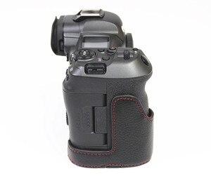 Image 5 - Retro Genuine leather Camera bag Protective Half Body case cover For Canon EOS R5 R6 digital cameras