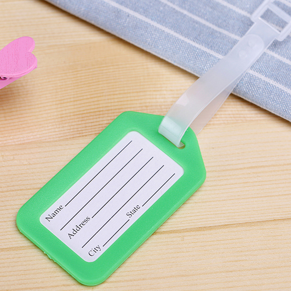 PVC Travel Luggage Bag Tag Colorful Address ID Label Suitcase Baggage Tags