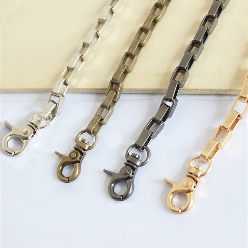 DIY 40cm-160cm Gold, Silver, Gun Black, Bronze 6mm Metal Replacement Chain Shoulder Bag Straps For Handbags, Purse Handles