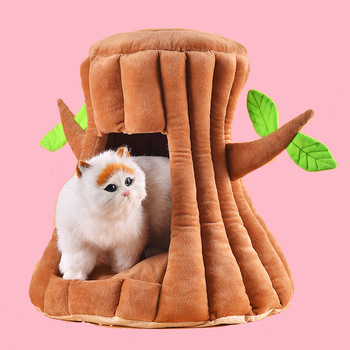 Cat bed Cute Tree Nest Deep Sleep Cat house Winter Warm comfort cat cave Lounger Cushion Couch Sofa Mat Pet Supplies  My Pet World Store