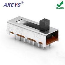 15pcs One button SS-26F02 toggle switch 6 files 14 feet 26.5*10.2MM straight foot handles toggle power components nkk toggle switch m 2013 6a125vac 3 feet 3 files