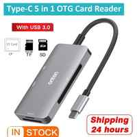 New 2 Port USB 3.0 Hub Converter adapter Multi USB Type-C To CF/TF/SD Card Reader Smart Memory Card Reader For PC Windows XP Mac