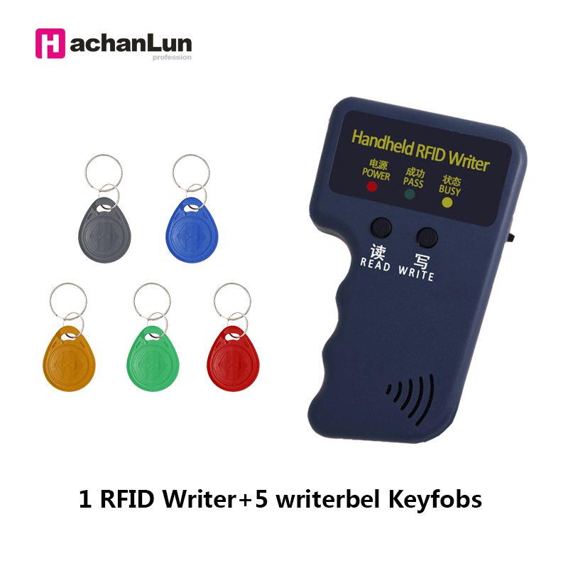 Handheld 125KHz EM4305 T5577 RFID Readers Writer Copier Programmer Duplicator  Writer Writable ID Keyfobs Tags Card