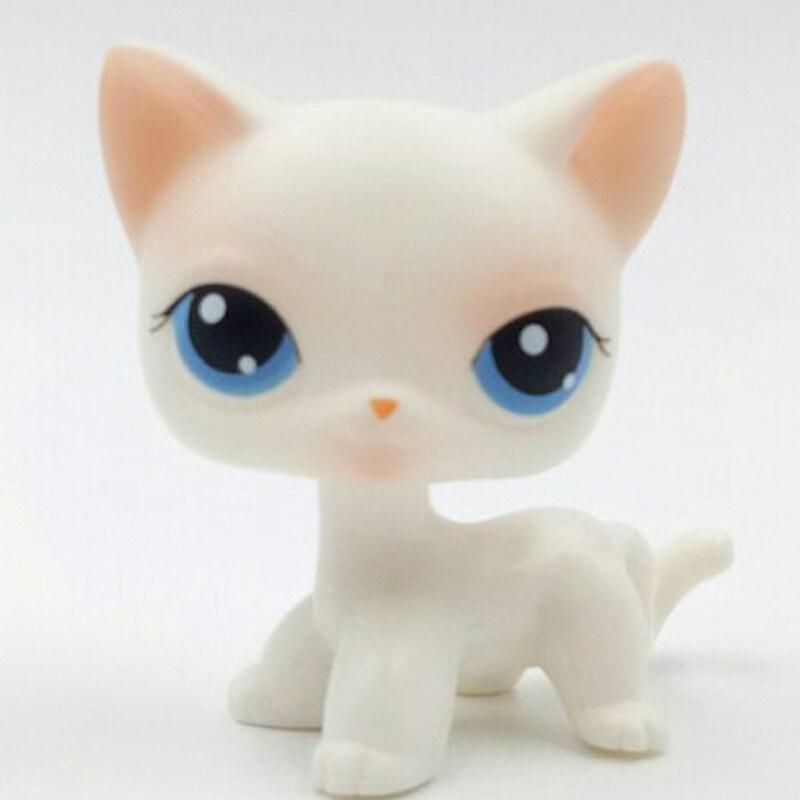 Лпс стоячки кошки Игрушки для кошек lps, редкие подставки, маленькие короткие волосы, котенок, розовый#2291, серый#5, черный#994,, коллекция фигурок для питомцев - Цвет: 64
