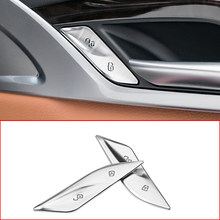 Наклейка на кнопку переключателя блокировки двери автомобиля для BMW 5/6 серии G30 G38 G32 GT 530i 2018-2021, декоративная крышка, автомобильные аксессуар...