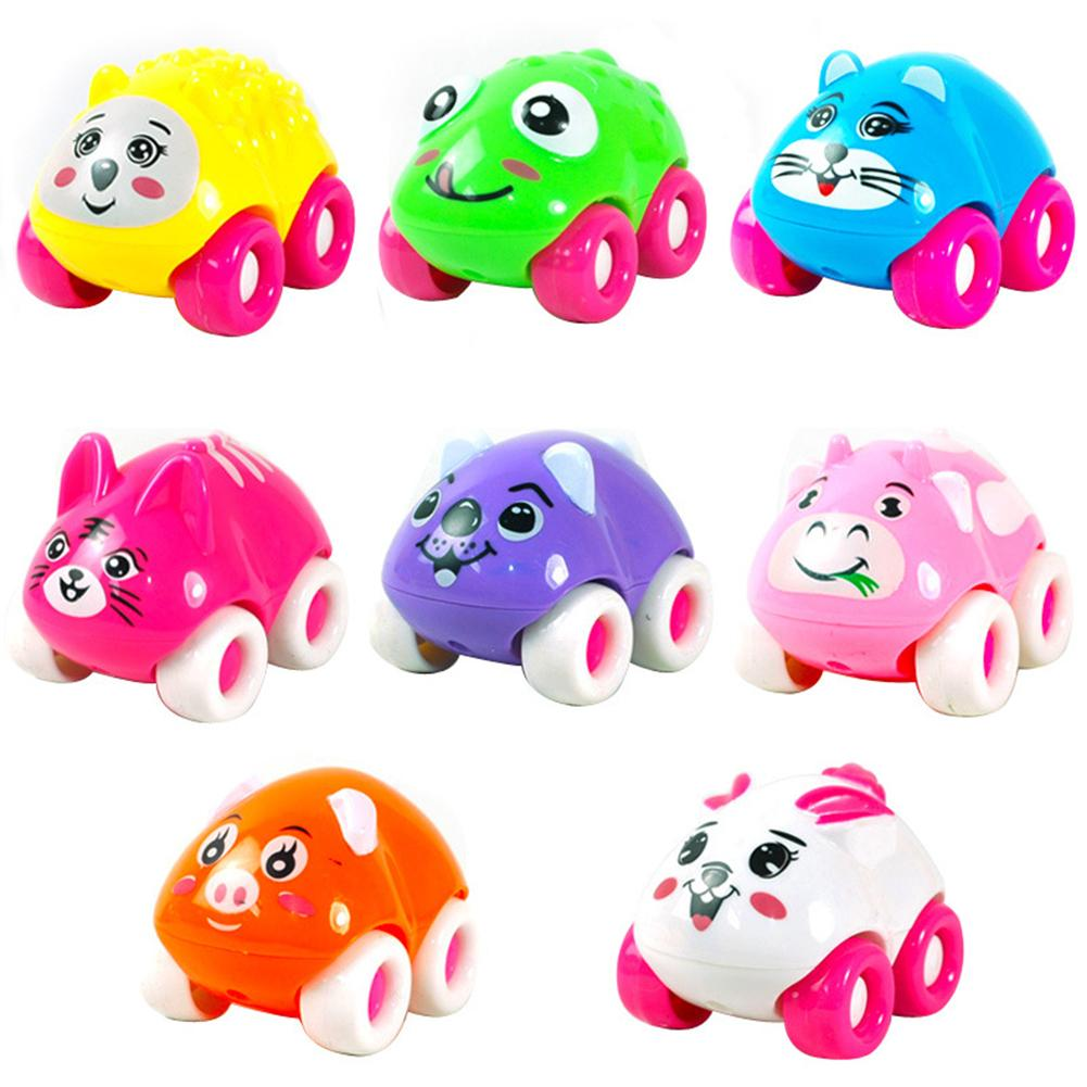 1Pc Colorful Magnetic Mini Cartoon Animal Car Intelligence Kids Toy Home Decor