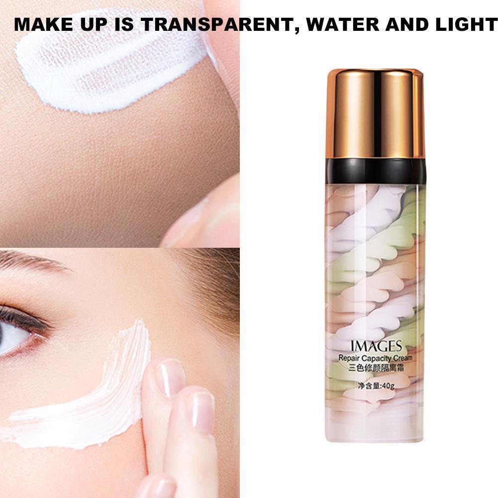 Makeup Primer Moisturizing Oil-control Cover Blemishes Skin Even Isolation Color Cream Crème de couleur isolante