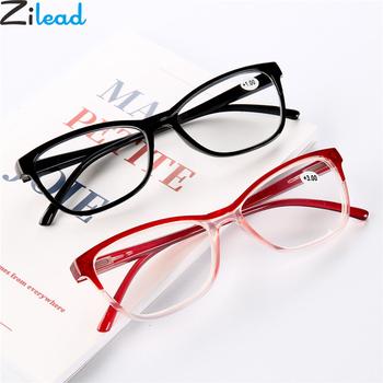 Zilead Ultralight TR90 gradientowe okulary do czytania żywica HD przezroczyste soczewki okulary do czytania okulary + 1 0to + 4 0 dla kobiet i mężczyzn tanie i dobre opinie Unisex Jasne Lustro YJ0894 4 1cm Poliwęglan 5 5cm Z tworzywa sztucznego 200002146 200002146 200002198 200002198