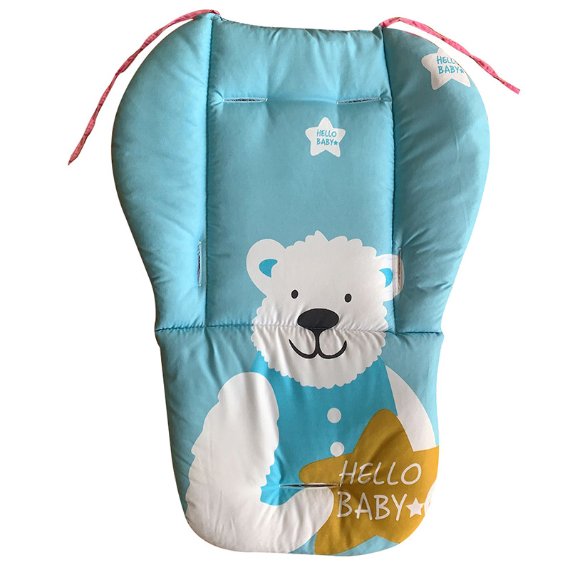 Baby Cushion Seat Pad Universal Cartoon Floral Stroller Seat Covers Soft Thick Pram Car Seat Cushion Cover Pad