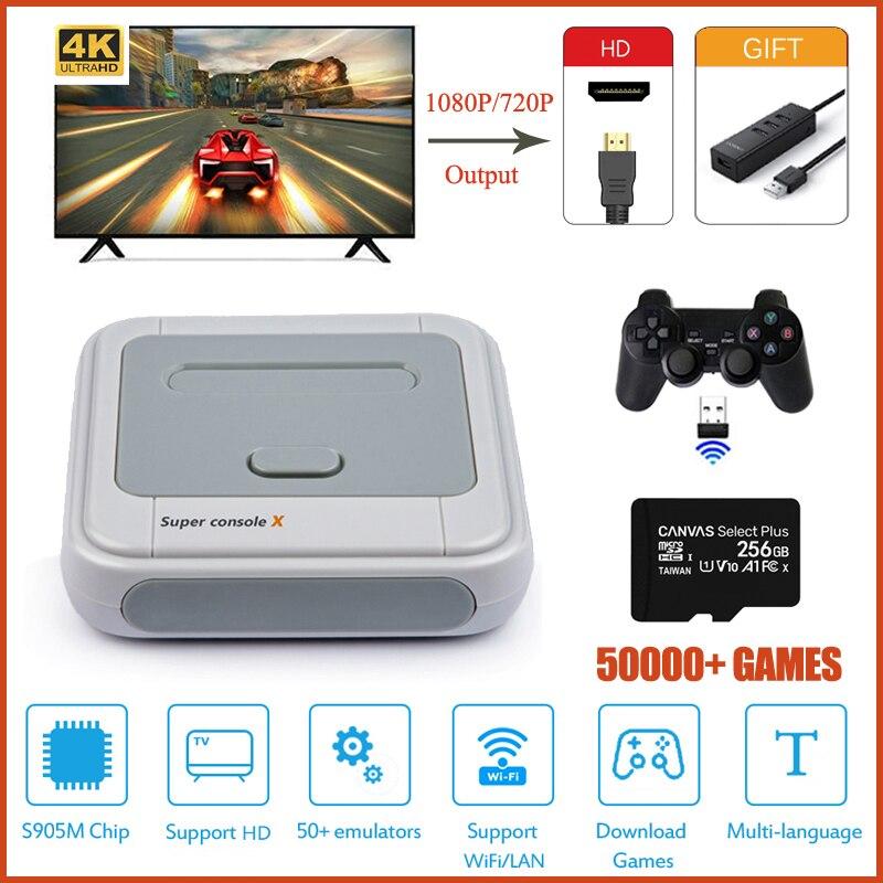 Супер консоль X HD видео игровая консоль для PSP/PS1/N64/DC встроенные 50000 + игр Ретро ТВ игровая консоль с открытым исходным кодом Linux
