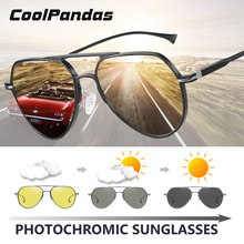 CoolPandasยี่ห้อPilotแว่นตากันแดดผู้ชายผู้หญิงPhotochromic Day Night Polarized Sun Glasse Chameleon Anteojos De Sol Hombre