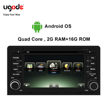 Ugode Android OS Car Multimedia Player GPS Navigation 7 Inches Screen Monitor Bluetooth For Audi A3 Changer (2006-2013)