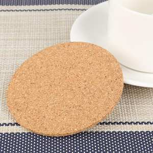 Mat Coaster Tableware-Decor Drinks-Holder Coffee Mug Wooden Natural Durable-Pad Round