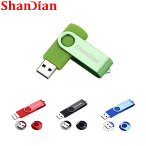 SHANDIAN new creative flash drive high Speed drive 64GB 32 GB 16 GB 4GB external storage Application USB Fashion gift