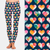 LETSFIND 2021 Fashion 3D Sweet Valentine's Pattern and Hearts Print Women Leggings High Waist Fitness Soft Leggings Plus Size 2