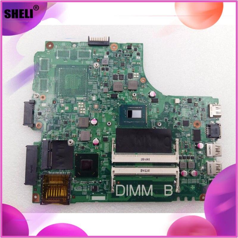 SHELI CN-0FYRN2 0FYRN2 FYRN2 Pour Dell 2421 3421 5421 Carte Mère I3-3227U DNE40-CR