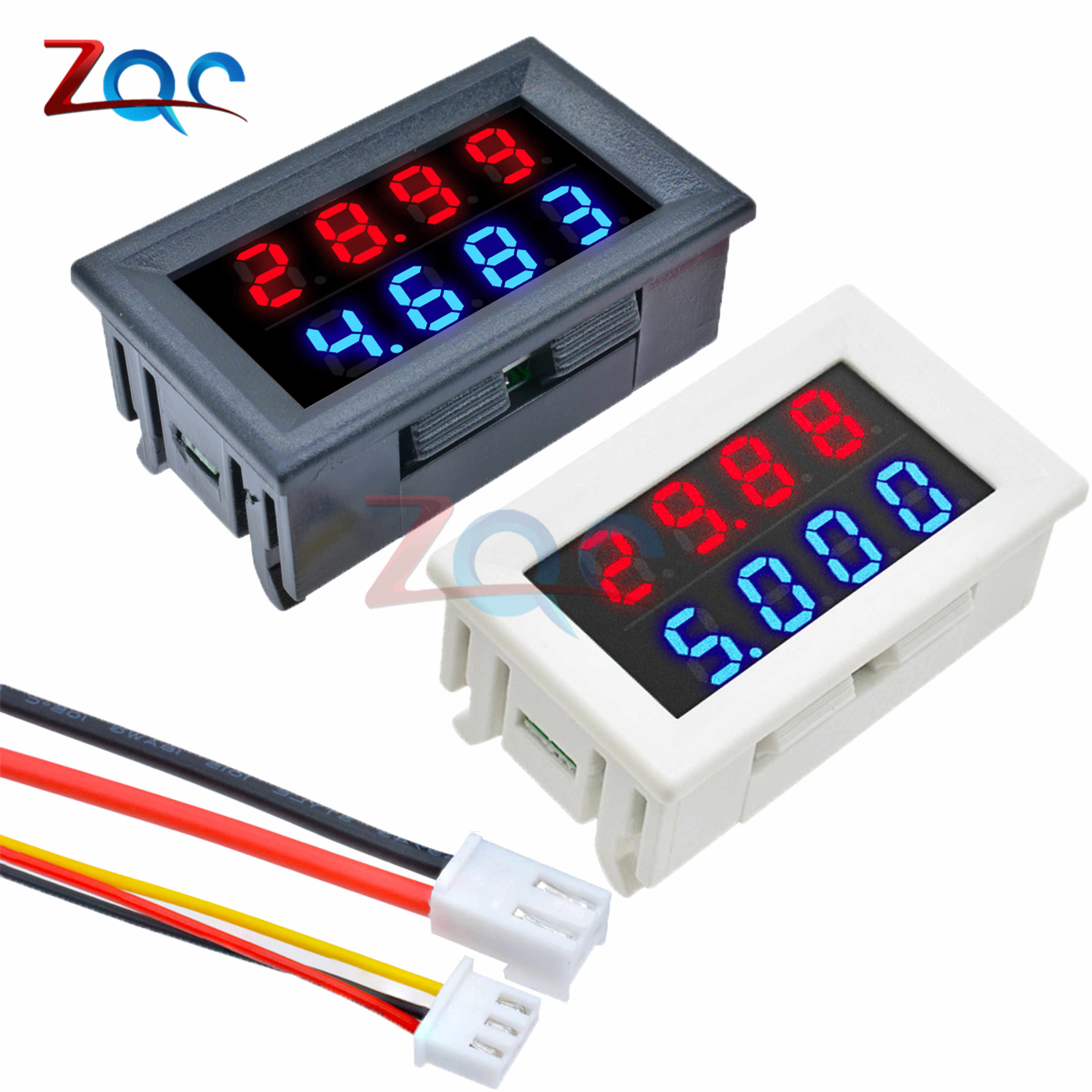 Mini DC 4 Bits Dual Digital Voltmeter Ammeter DC 200V 10A Voltage Current Volt Amp Monitor Meter Detector Power Supply Tester