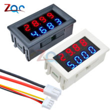 Mini Digital DC Voltmeter Ammeter 4 Bit 5 Wires DC 200V 10A Voltage Current Meter Power Supply Tester Red Blue LED Dual Display(China)