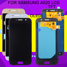 HH Oled A5 2017 Display For Samsung Galaxy A520 Lcd A520F A520M Display With Touch Screen Digitizer Assembly Free Shipping for samsung galaxy sii i777 lcd screen display with touch screen digitizer assembly by free shipping black color 100% warranty